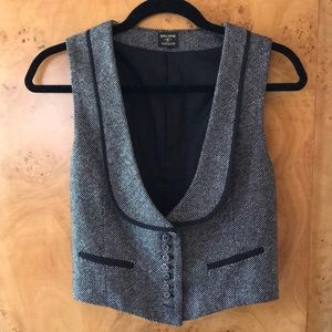 Kate Moss Topshop Tweed Button Up Vest